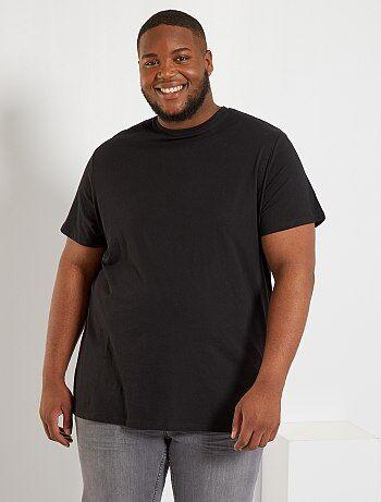 Taglie forti Uomo - Maglietta comfort jersey - Kiabi d5bb2508fb1