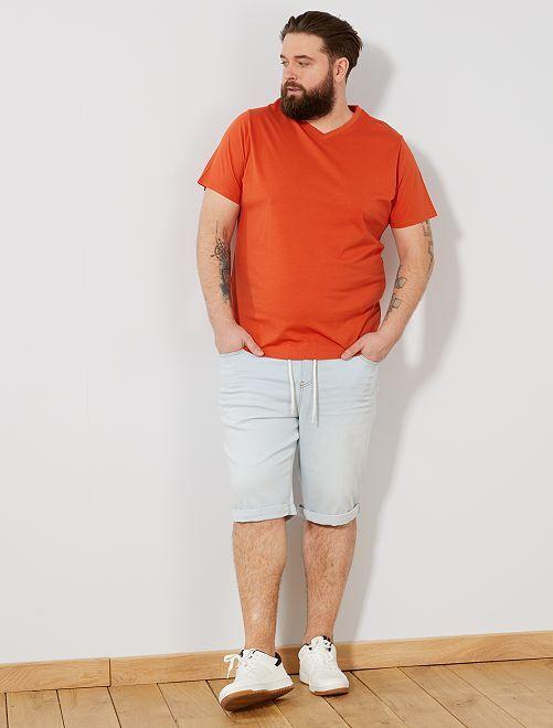 Maglietta comfort jersey tinta unita                                                                                                                                                                 arancio
