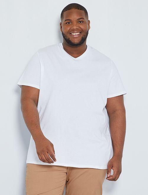 Maglietta comfort jersey tinta unita                                                                 bianco