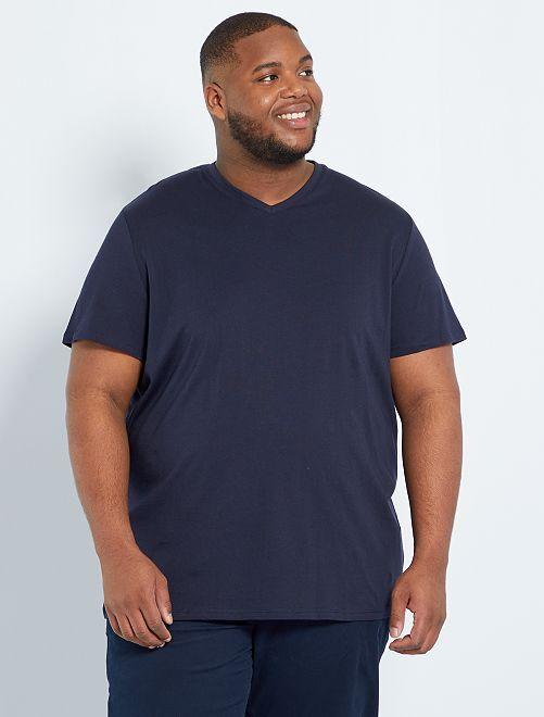 Maglietta comfort jersey tinta unita                                                                                                                                                     BLU Taglie forti uomo