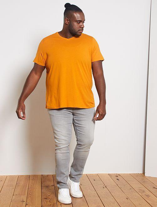 Maglietta comfort jersey tinta unita                                                                                                                                                     GIALLO