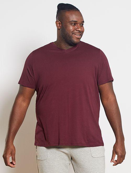 Maglietta comfort jersey tinta unita                                                                                                                                                     rosso