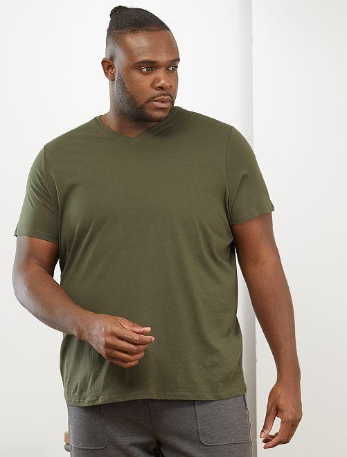 Maglietta comfort jersey tinta unita                                                                                                                                         verde selva