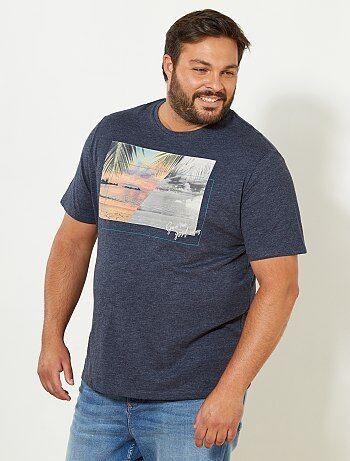 Maglietta comfort maglia fiammata - Kiabi