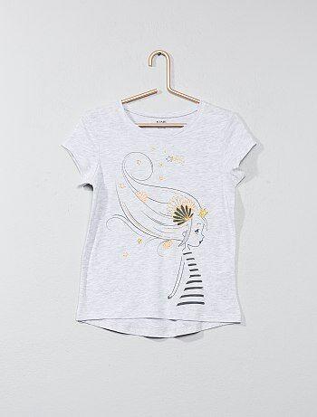 Bambina 3-12 anni - Maglietta con applicazione - Kiabi