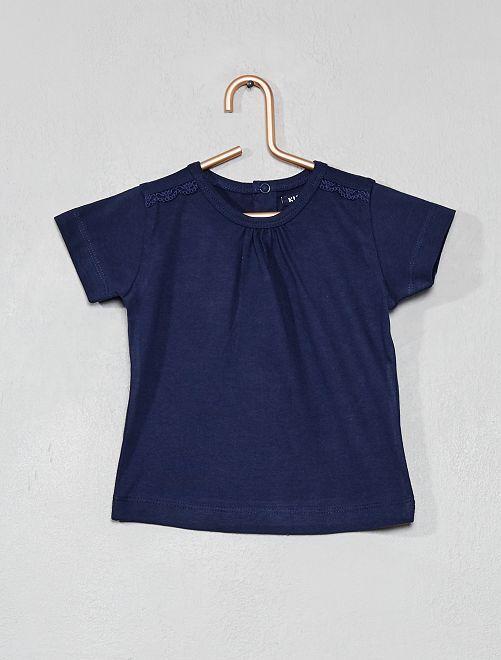 Maglietta con ricami                     BLU