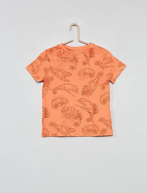 Maglietta con stampa                                                                                 arancione Infanzia bambino