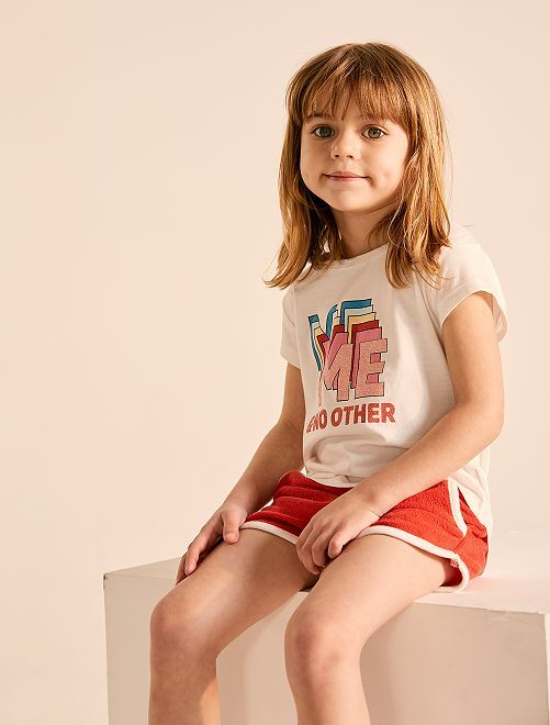 Maglietta con stampa                             BIANCO Infanzia bambina