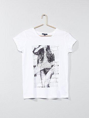 Bambina 10-18 anni - Maglietta con stampa - Kiabi