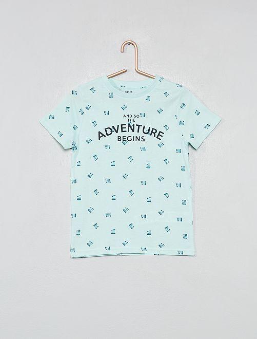 Maglietta con stampa                                                                                         BLU Infanzia bambino