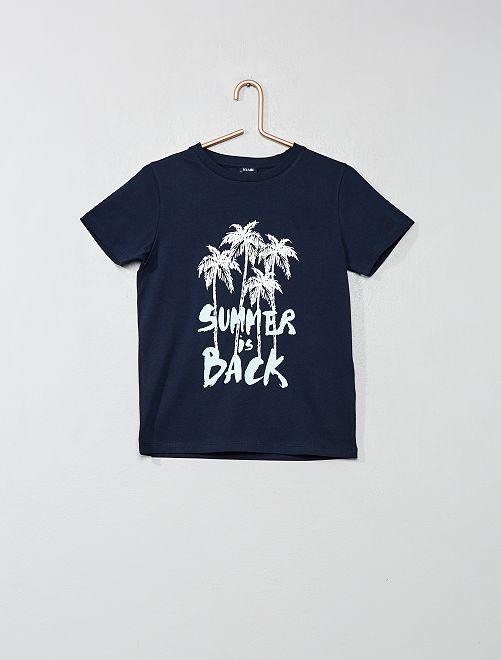 Maglietta con stampa                     BLU