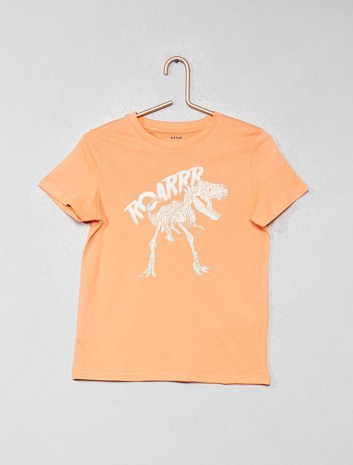 Maglietta con stampa cotone bio                                                                                                                                                     ARANCIONE Infanzia bambino