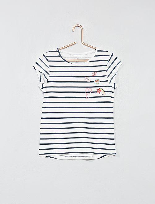 Maglietta con stampa cotone bio                             BIANCO Infanzia bambina