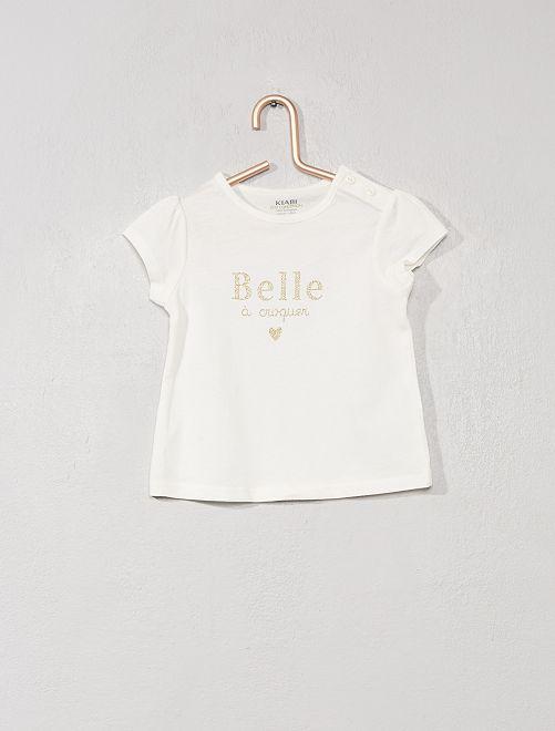 Maglietta con stampa 'eco-design'                                                                                                                 BIANCO