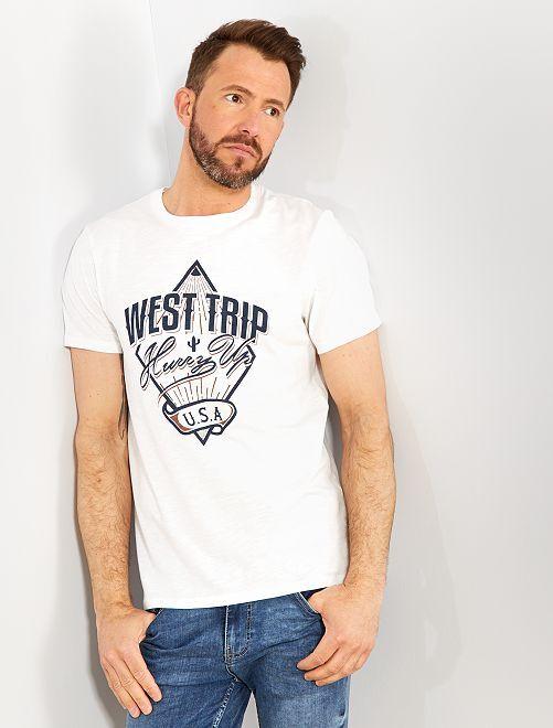 Maglietta con stampa eco-design                                                                                                                 BIANCO Uomo
