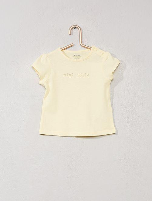 Maglietta con stampa 'eco-design'                                                     GIALLO