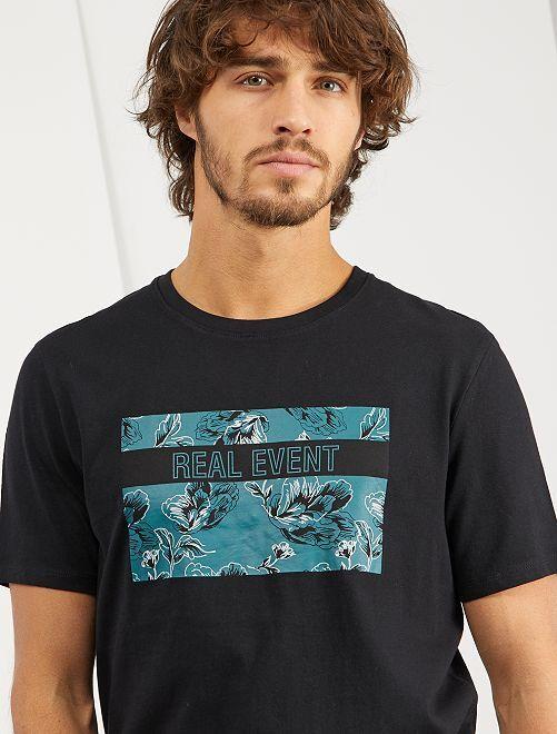 Maglietta con stampa 'eco-design'                                                                                                                                                                 NERO