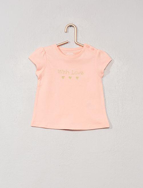 Maglietta con stampa 'eco-design'                                                                                                                 ROSA