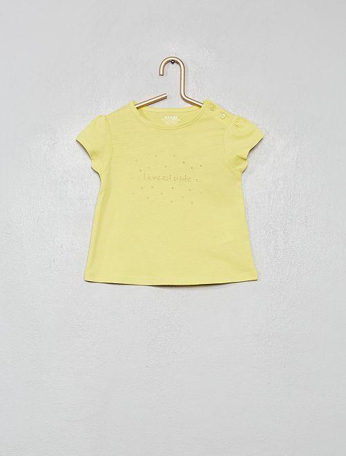 Maglietta con stampa 'eco-design'                                                                                                                 VERDE