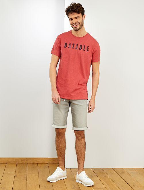 Maglietta cotone bio + 1m90 'eco-design'                                                                 BLU