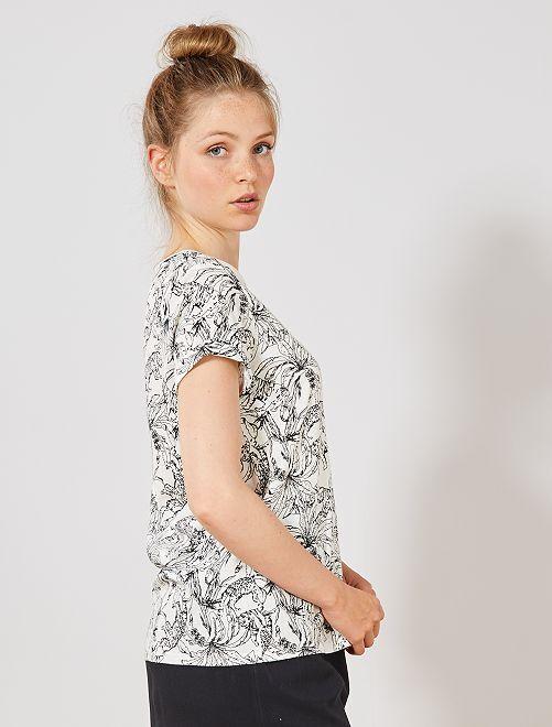 Maglietta cotone bio                                                                                                                                                     BIANCO Donna