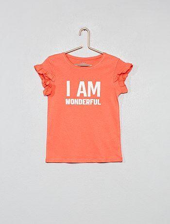 Maglietta cotone bio con messaggio - Kiabi 26b90349b81