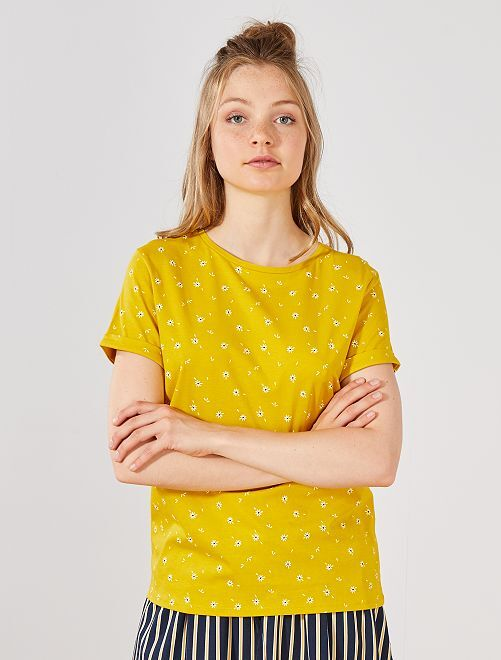 Maglietta cotone bio                                                                                                                                                         GIALLO Donna