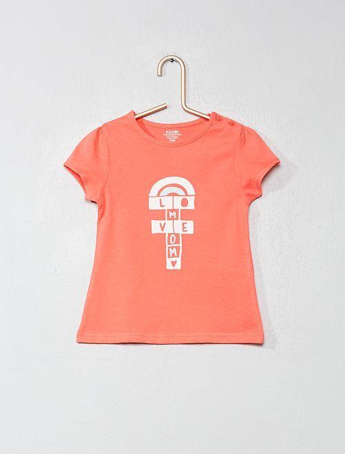 Maglietta cotone biologico                                                                                                                                         ROSA Neonata