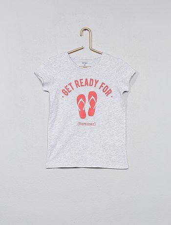 Maglietta cotone con stampa - Kiabi