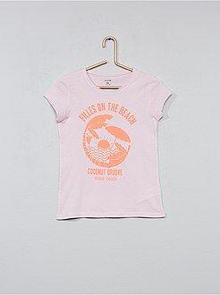 Bambina 3-12 anni - Maglietta cotone con stampa - Kiabi