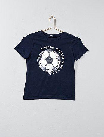 Maglietta cotone lustrini reversibili - Kiabi