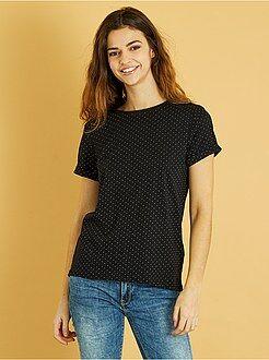 Donna dalla 38 alla 52 - Maglietta cotone maniche corte - Kiabi