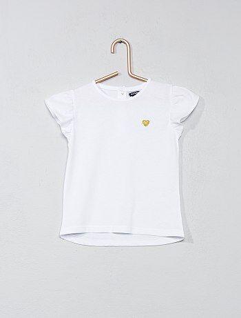 Bambina 0-36 mesi - Maglietta cuore brillante - Kiabi