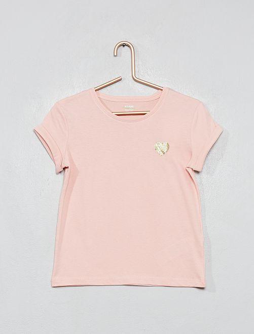 Maglietta cuore 'eco-design'                                                                 ROSA