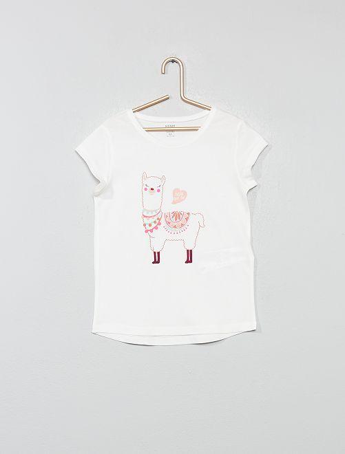 Maglietta eco-design con stampa                                                                                                                             BEIGE Infanzia bambina