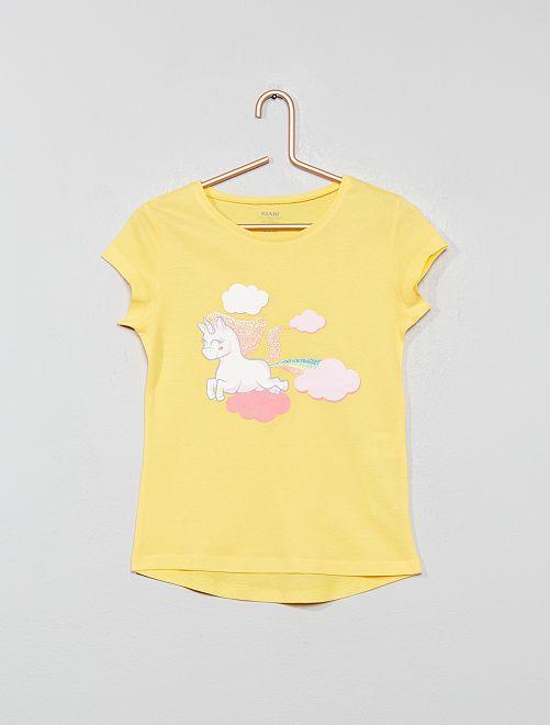 Maglietta eco-design con stampa                                                     GIALLO