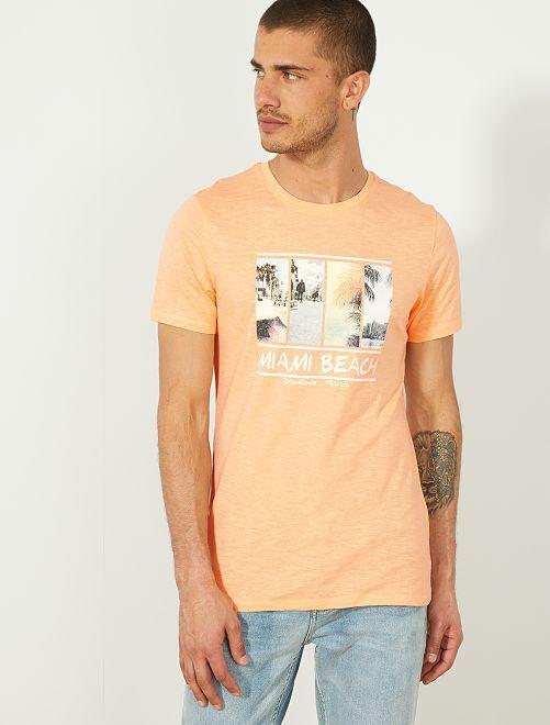 Maglietta eco-design cotone bio                                                                                                                                                     ARANCIONE Uomo