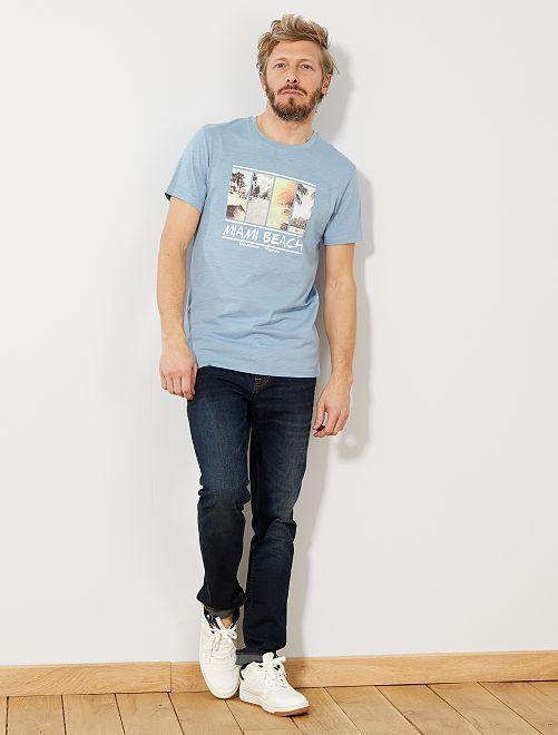 Maglietta eco-design cotone bio                                                                                                                                         BLU Uomo