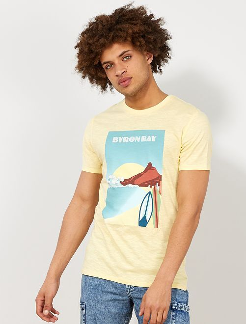 Maglietta eco-design cotone bio                                                                                                                                                     GIALLO Uomo
