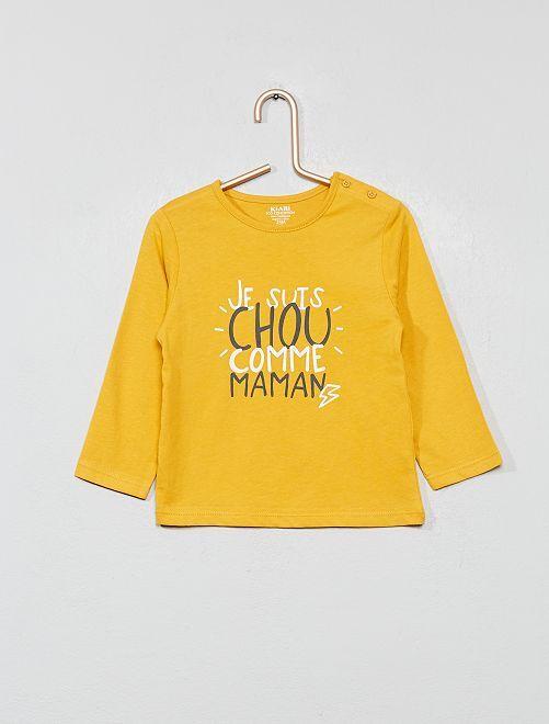 Maglietta 'Eco-design'                                                                             GIALLO