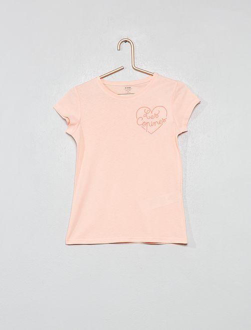 Maglietta fantasia cotone biologico                                                                                         ARANCIONE Infanzia bambina