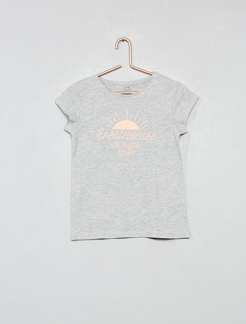Maglietta fantasia cotone biologico                                                                                                     GRIGIO Infanzia bambina