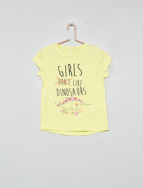 Maglietta fantasia                                                                 GIALLO Infanzia bambina