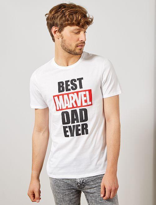 Maglietta festa del papà 'Marvel'                                         BIANCO Uomo