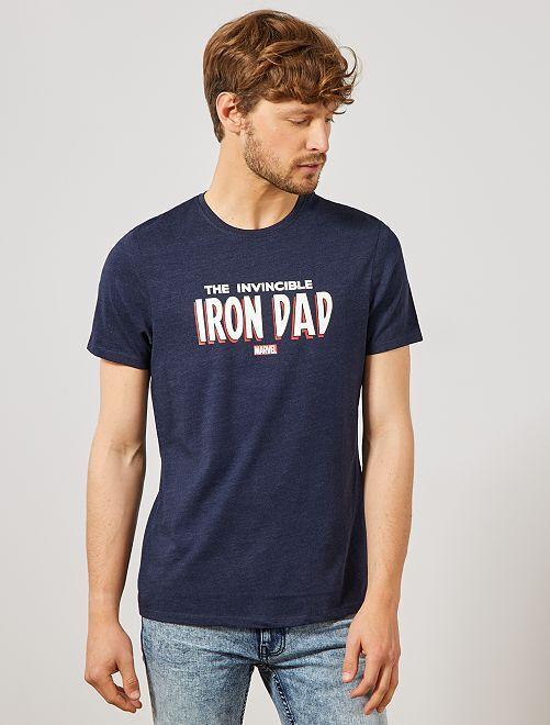 Maglietta festa del papà 'Marvel'                                                     BLU Uomo