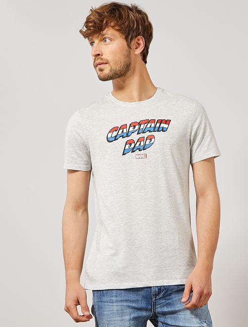 Maglietta festa del papà 'Marvel'                                 GRIGIO Uomo