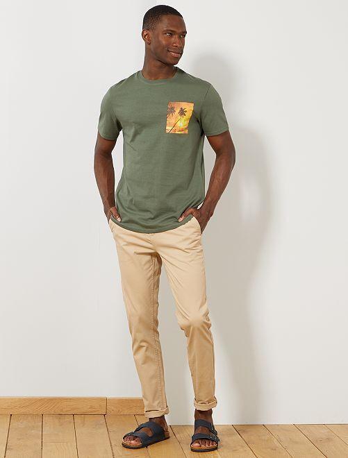 Maglietta foto stampata summer                                                         VERDE Uomo