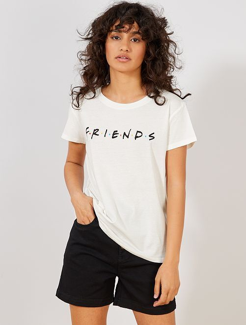 Maglietta 'Friends'                             bianco Donna
