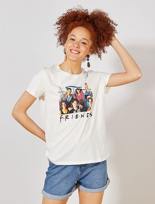 Maglietta 'Friends'                             bianco neve