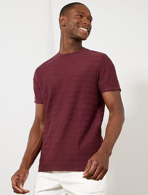 Maglietta gioco di maglia cotone bio                                                                             rosso Uomo
